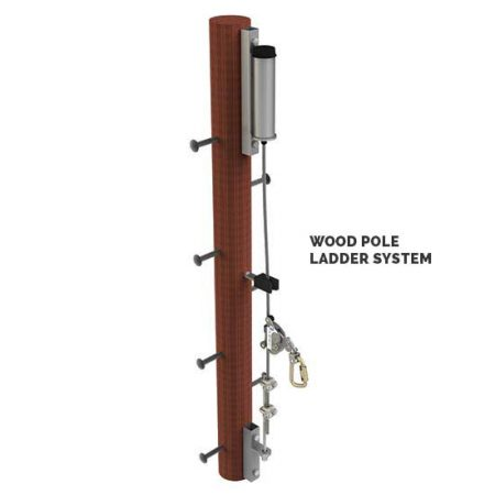 Ladder Cable Fall Arrest - Wood Pole