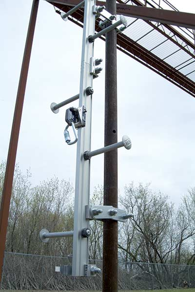 Ladder Rigid Track Fall Arrest - Steel Pole