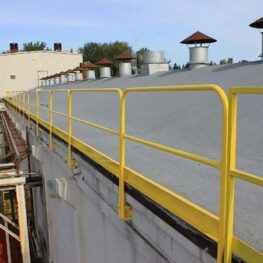 Fixed Mounted Guardrails with Toeboards
