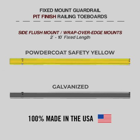 Fixed Mounted Guardrails - Toeboard for Pit Finish Railings