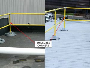 Steel Galvanized Modular Guardrails - 90 Degree Corners