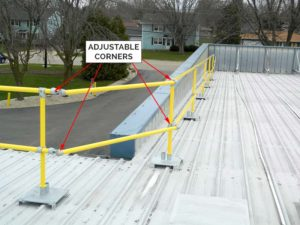 Steel Galvanized Modular Guardrails - Adjustable Corners
