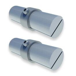 Aluminum Fixed Mounted Guardrail - Rail Connector [PAIR]