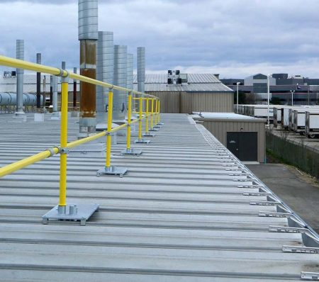 Steel Galvanized Guardrails - STANDING SEAM METAL DECKS