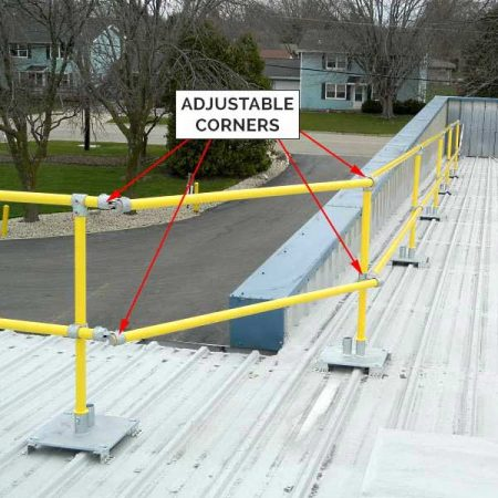 Adjustable Corner Joint - Steel Non-penetrating & Fixed Guardrails