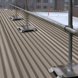 Steel Galvanized Guardrails - CORRUGATED METAL DECKS