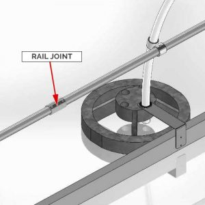 Rail Joint/Straight Pipe Coupling - Steel Galvanized Guardrails