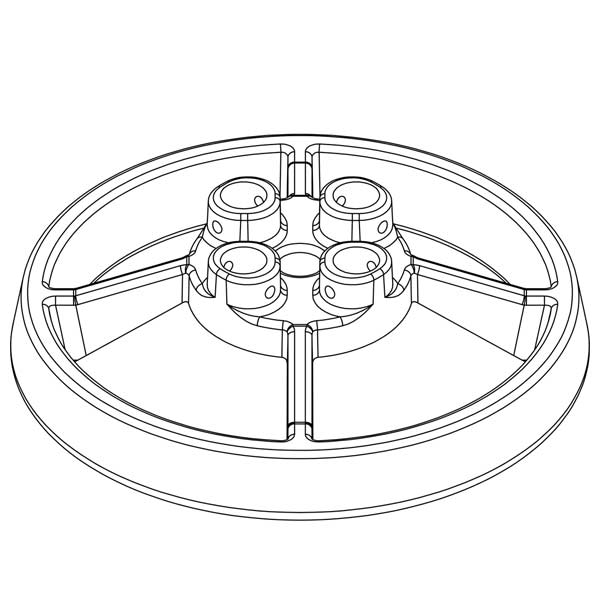 Steel Galvanized Guardrails - Non-penetrating Galvanized Base Plates