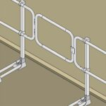 Aluminum Modular Guardrails – Safety Gate