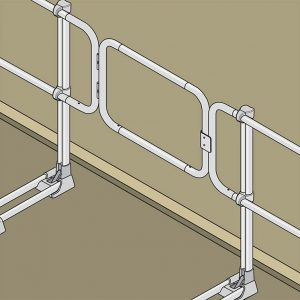 Aluminum Modular Guardrails - Safety Gate