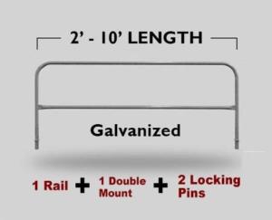 Fixed Mounted Railings - Galvanized
