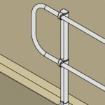 Aluminum Modular Guardrails – Finishing End Bracket