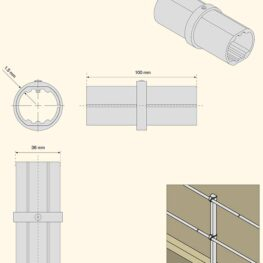 Aluminum Modular Guardrails - Rail Joint