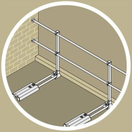Aluminum Modular Guardrails - Wall End Termination