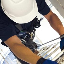 Ladder Cable Fall Arrest - Roof Hatch Ladder