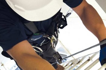 Ladder Cable Fall Arrest - Roof Hatch Ladder