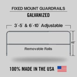 Fixed Mounted Adjustable Railings - Galvanized
