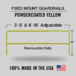 Fixed Mounted Adjustable Railings – Safety Yellow