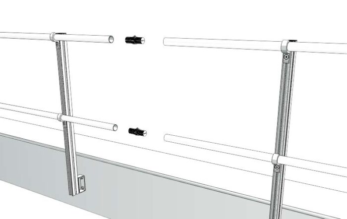 Aluminum Fixed Mounted Guardrails - Rail Connectors
