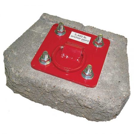 Fall Protection Roofer's Kit - Concrete Anchor Plate with Fasteners