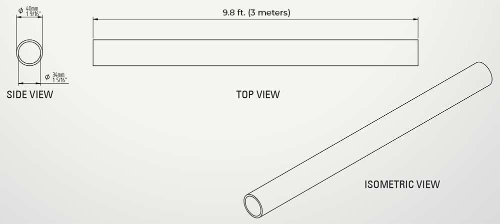 Aluminum Fixed Mounted Guardrails - Rails/Tubes