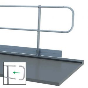 Aluminum Fixed Mounted Guardrails - Freestanding Open Ends