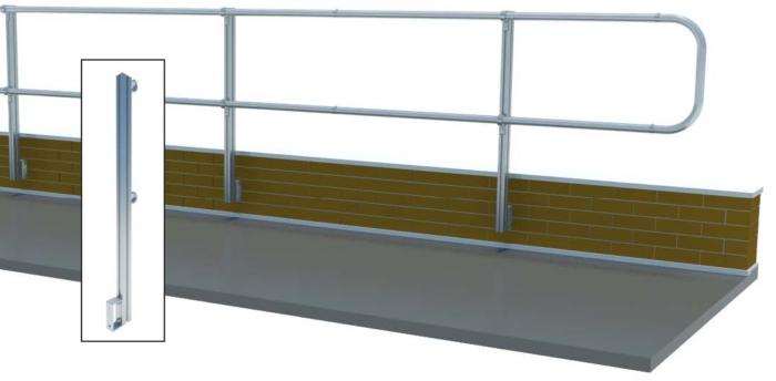Aluminum Fixed Mounted Guardrails - Side Flush Mount