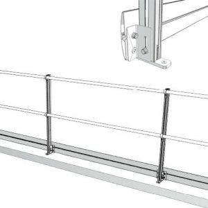 Aluminum Fixed Mounted Guardrails - Toeboards