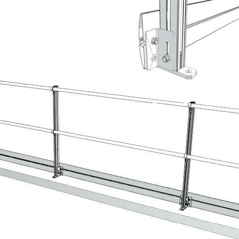 Aluminum Fixed Mounted Guardrails - Toeboards