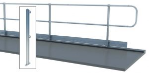 Aluminum Fixed Mounted Guardrails - Top Floor Mount