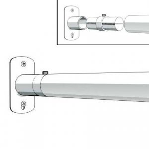 Aluminum Fixed Mounted Guardrails - Wall Mount Bracket