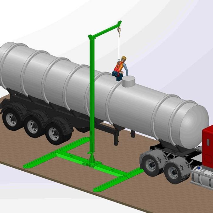Counterweight & Freestanding Single Anchor - Mast/Jib