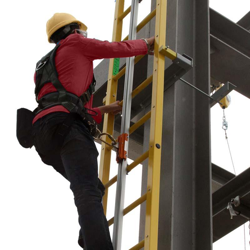 Ladder Rigid Track Fall Arrest System