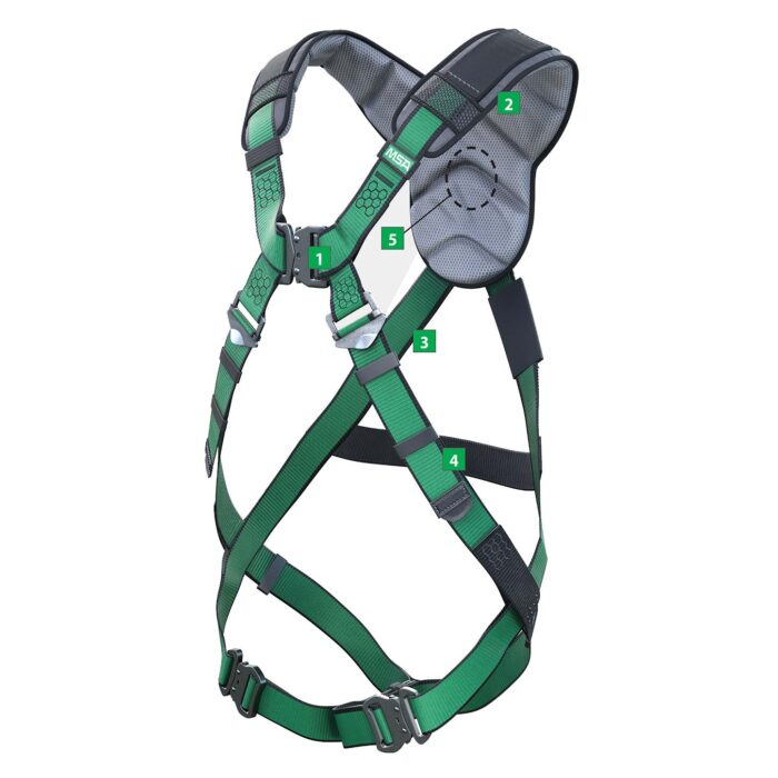 MSA V-FORM+ Safety Harness with Back D-Ring