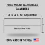 Fixed Mounted Adjustable Railings – Galvanized