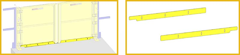 Pallet Self-Closing Safety Gate - Toeboards