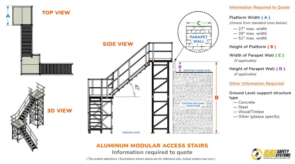Aluminum Modular Access Stairs